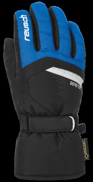 REUSCH BOLT GTX® Junior dětské prstové rukavice imperial blue/black 18/19